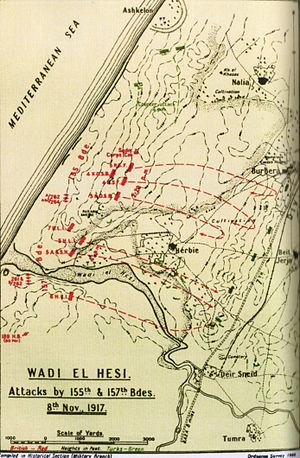 Capture of Wadi el Hesi - Wadi el Hesi attacks by 155th and 157th Brigades on 8 November