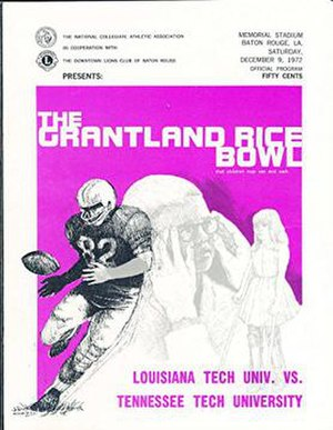 1972 Grantland Rice Bowl - Program cover for 1972 game