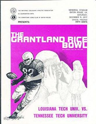 1972 Grantland Rice Bowl - Program cover for 1972 game