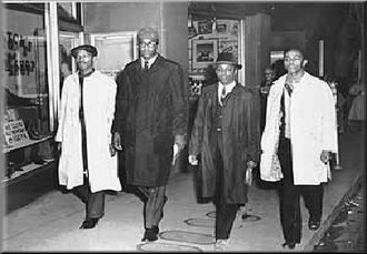 Greensboro sit-ins - Image: Greensboro Four, Feb 1960