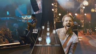Guitar Hero Live - Guitar Hero Live utilizes a new presentation style incorporating live-action footage from the perspective of the guitarist, rather than 3D stages and characters.