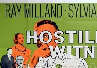 Hostile Witness - Detail of original British quad poster