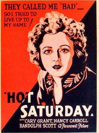 Hot Saturday - Image: Hot Saturday poster