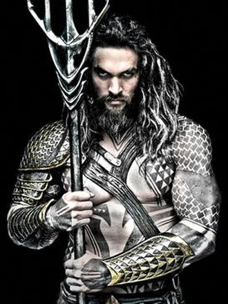 Aquaman - Promotional image of Jason Momoa as Aquaman in the DC Extended Universe