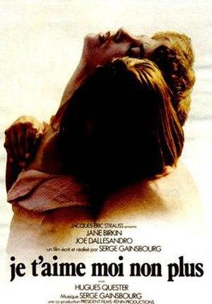 Je t'aime moi non plus (film) - Theatrical poster