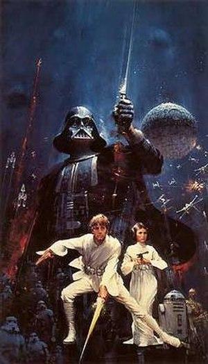 John Berkey - John Berkey's 1976 Star Wars poster