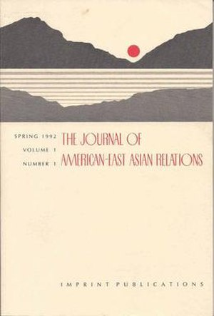 Journal of American-East Asian Relations - Image: Journal of American East Asian Relations Vol I No. 1 Cover