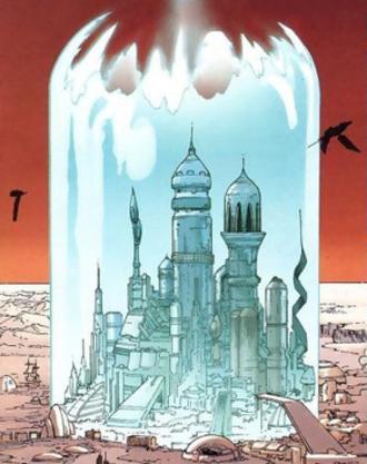 Krypton (comics) - Image: Kandor Action Comics 866