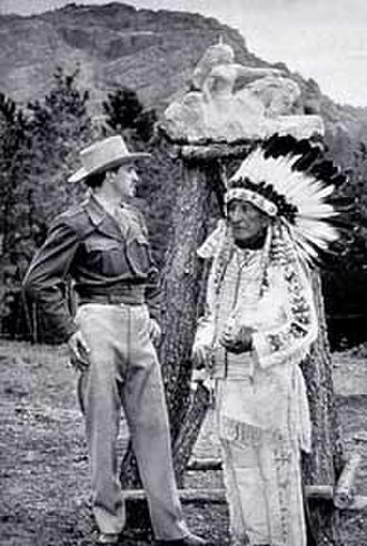 Crazy Horse Memorial - Image: Korczak Ziolkowski and Lakota Chief Henry Standing Bear, kz henry 48