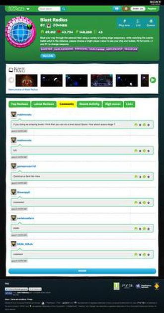 LittleBigPlanet (2008 video game) - LBP.me allows people to search for levels from a web browser.