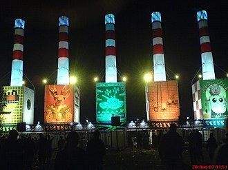 Lowlands (festival) - Main entrance to festival (ca. 2007)