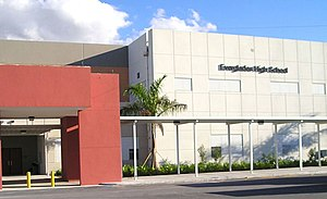 Everglades High School - Image: Marquee 12e 1