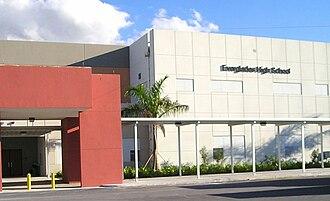 Everglades High School - Image: Marquee 12e 1