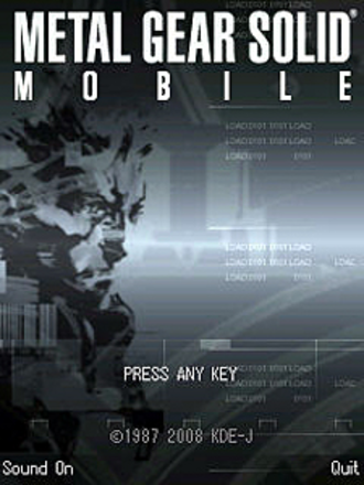 Metal Gear Solid Mobile - Metal Gear Solid Mobile title screen.