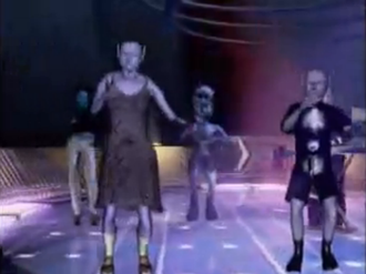 Move Your Body (Eiffel 65 song) - Some of the characters as seen dancing in the video.
