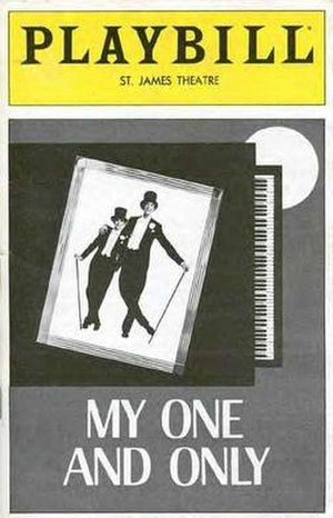 My One and Only (musical) - Original Playbill