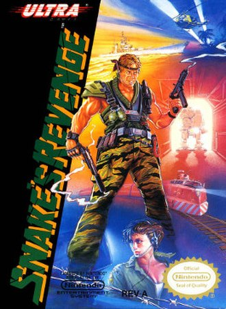 Snake's Revenge - North American front cover