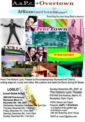 Lyric Theater (Miami) - Image: Nrm studio lab projects A.A.P.C. + Overtown (Music and C Ulture of Overtown) Performance at the Lyric Theater (2007)
