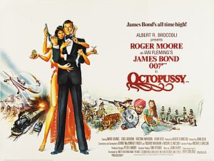 Octopussy - British cinema poster for Octopussy, illustrated by Dan Goozee and Renato Casaro