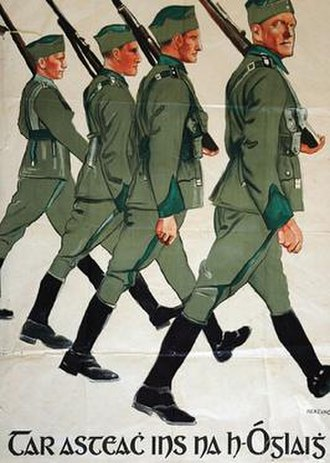 Irish Army - Volunteer Force recruitment poster, 1930s