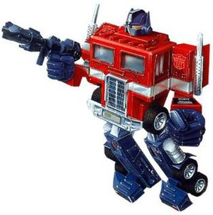 Optimus Prime - Optimus Prime box art showing his original G1 toy design