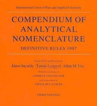 IUPAC books - Image: Orange Book Cover
