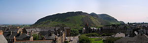 Arthur's Seat - Panorama of Salisbury Crags and Arthur's Seat