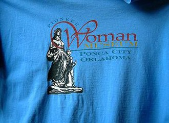Pioneer Woman - image of the statue used on a tee-shirt