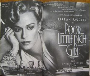 Poor Little Rich Girl: The Barbara Hutton Story - Part 1 print advertisement