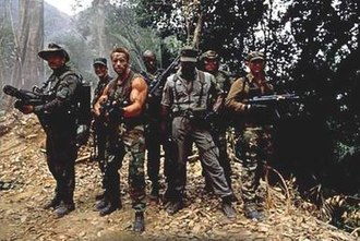 Predator (film) - The main cast of Predator. Left to right: Ventura, Black, Schwarzenegger, Duke, Weathers, Landham, and Chaves.