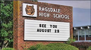 Ragsdale High School - Front of the Beautiful Ragsdale.