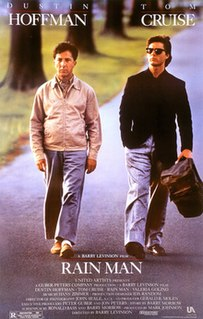 <i>Rain Man</i> 1988 American comedy-drama film directed by Barry Levinson