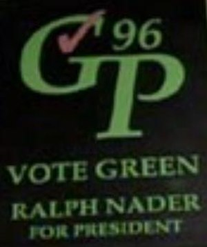 Ralph Nader presidential campaign, 1996 - Image: Ralph Nader 1996 presidential campaign logo