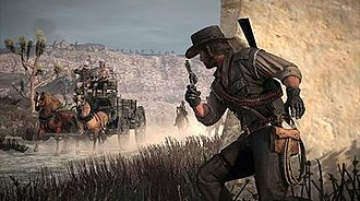 Third-person shooter - Red Dead Redemption (2010) features a cover system, a feature that has become one of the most important features of the genre.
