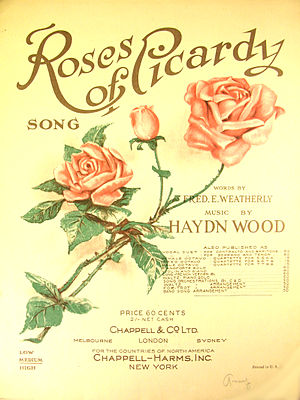 Roses of Picardy - Sheet music from c. 1920