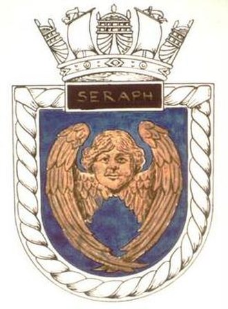 HMS Seraph (P219) - Image: SERAPH badge 1