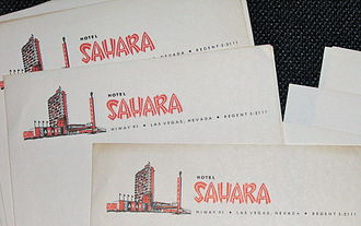 SLS Las Vegas - Early Sahara stationery