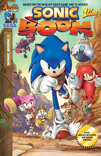Sonic Boom (TV series) - Cover of the first issue of the comic