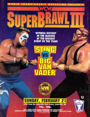 SuperBrawl III - Promotional poster featuring Sting and Big Van Vader