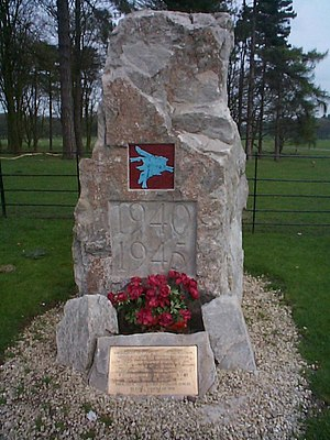 Operation Colossus - Memorial to the men of the Parachute Regiment at Tatton Park