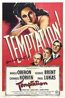 <i>Temptation</i> (1946 film) 1946 American drama film noir directed by Irving Pichel