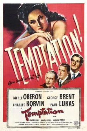 Temptation (1946 film) - Theatrical release poster