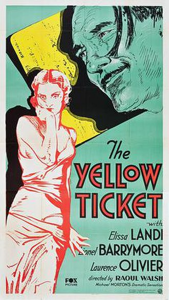 The Yellow Ticket - Film poster
