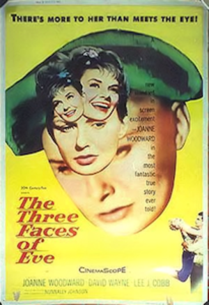 The Three Faces of Eve - Theatrical release poster