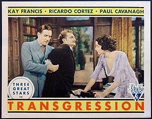Transgression (1931 film) - Theatrical poster