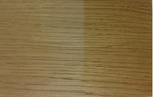 Ammonia fuming - Unfumed European white oak.  Left side is unfinished, right side is oiled.