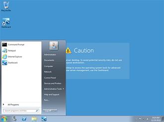 Windows Home Server 2011 - Image: Windows Home Server 2 Desktop