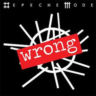 Wrong (Depeche Mode song) - Image: Wrong Single Cover