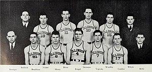 1936–37 Illinois Fighting Illini men's basketball team - Image: 1936 37 Illinois Fighting Illini men's basketball team