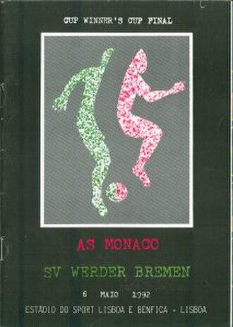1992 European Cup Winners' Cup Final - Image: 1992 European Cup Winners' Cup Final programme